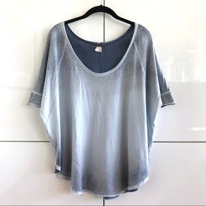 Like New Free People/We The Free Scalloped Tee